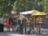В сквере Комсомольской Славы дан старт началу праздничных мероприятий, посвященных Дню государственного флага.